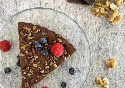 pastel de chocolate amargo