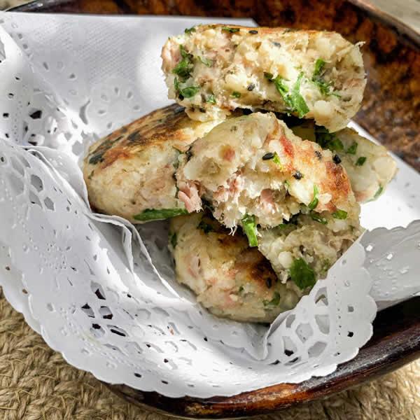 tortitas de arroz con atún